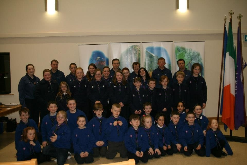 11th Limerick Newcastle West Scouts at their first Investiture.